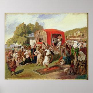 Outdoor Fete in Turkey, c.1830-60 Poster
