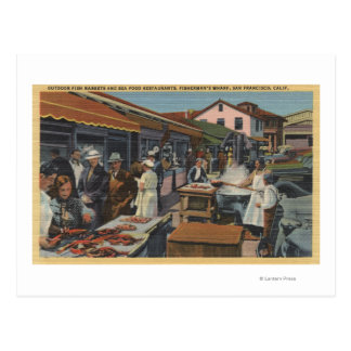 Outdoor Fish Markets on Fisherman's Wharf Postcard