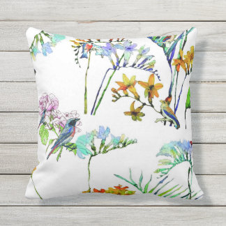 Outdoor flora and fauna tropical pillow