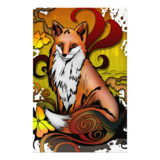 Outdoor Fox Custom Stationery
