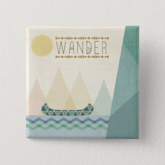 Outdoor Geo III | Wander 2 Inch Square Button