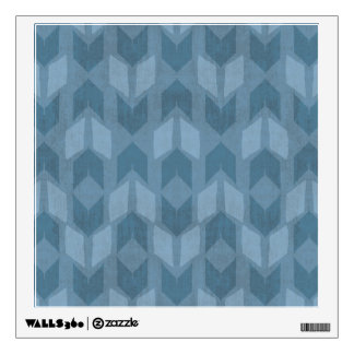 Outdoor Geo Step | Blue Arrow Pattern Wall Decal