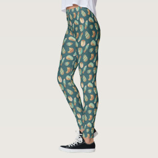 Outdoor Geo Step | Blue Pattern Leggings
