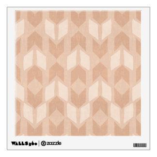 Outdoor Geo Step | Coral Arrow Pattern Wall Sticker
