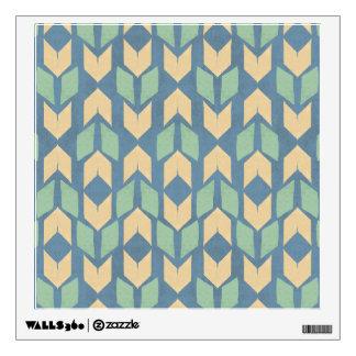 Outdoor Geo Step | Geometric Arrow Pattern Wall Sticker