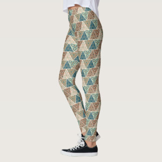 Outdoor Geo Step | Geometric Pattern Leggings