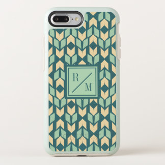 Outdoor Geo Step | Geometric Teal Arrow Pattern OtterBox Symmetry iPhone 8 Plus/7 Plus Case