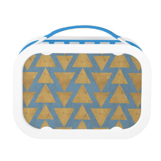 Outdoor Geo Step | Gold & Blue Pattern Lunch Box