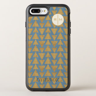 Outdoor Geo Step | Gold & Blue Pattern OtterBox Symmetry iPhone 8 Plus/7 Plus Case