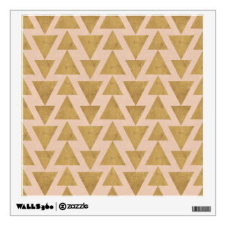 Outdoor Geo Step | Gold & Coral Geometric Pattern Wall Sticker