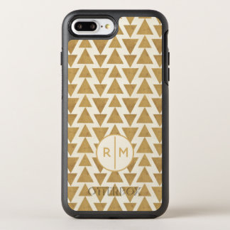 Outdoor Geo Step | Gold Geometric Pattern OtterBox Symmetry iPhone 8 Plus/7 Plus Case