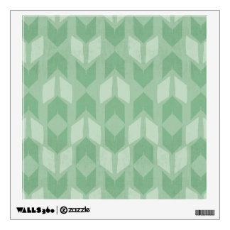 Outdoor Geo Step | Green Arrow Pattern Wall Decal