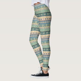 Outdoor Geo Step | Indian Pattern Leggings