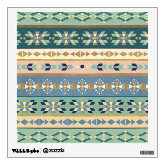 Outdoor Geo Step | Indian Pattern Wall Decal