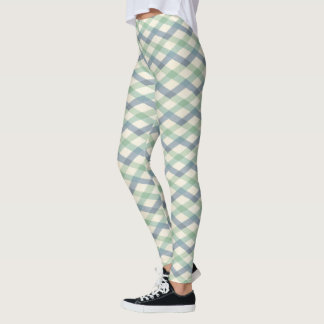 Outdoor Geo Step | Pastel Geometric Pattern Leggings