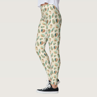 Outdoor Geo Step  | Teal Pattern Leggings