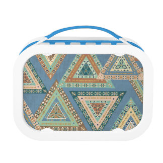Outdoor Geo X | Blue Tribal Indian Pattern Lunch Box