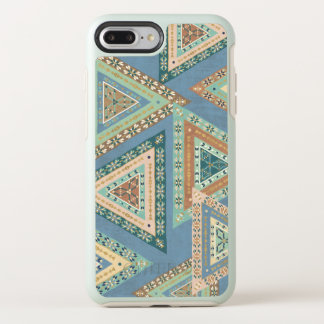 Outdoor Geo X | Blue Tribal Indian Pattern OtterBox Symmetry iPhone 8 Plus/7 Plus Case