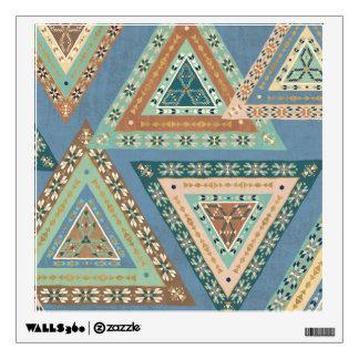 Outdoor Geo X | Blue Tribal Indian Pattern Wall Sticker