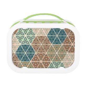 Outdoor Geo XI | Blue & Green Tribal Pattern Lunch Box