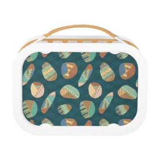 Outdoor Geo XII | Blue & Green Geometric Pattern Lunch Box