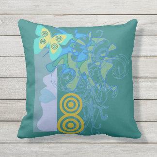 Outdoor Island Girl Tropical Pillow