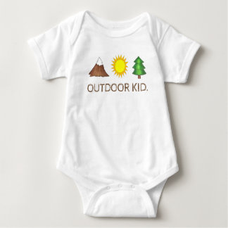 OUTDOOR KID Mountain Sunshine Pine Tree Woods Camp Baby Bodysuit