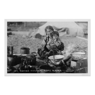 Outdoor Kitchen Nome, Alaska 1916 Poster