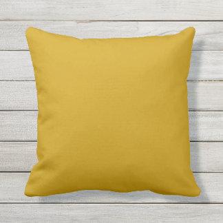 outdoor mustard yellow pillow