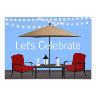 "Outdoor Patio Party 4.5"" X 6.25"" Invitation Card"