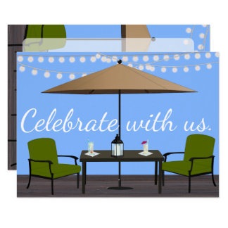 "Outdoor Patio Party 4.5"" X 6.25"" Invitation Card"
