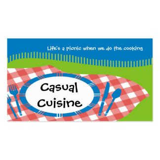 outdoor picnic table setting catering business ... business card
