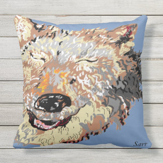 Outdoor Pillow/Alaskan Husky Throw Pillow