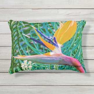 Outdoor Pillow, Bird of Paradise design Outdoor Pillow