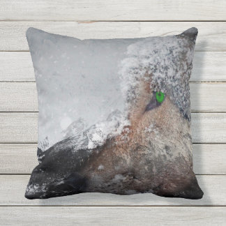 Outdoor Pillow_Snowy Determination Throw Pillow