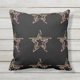 Outdoor pillow with hand-drawn stars