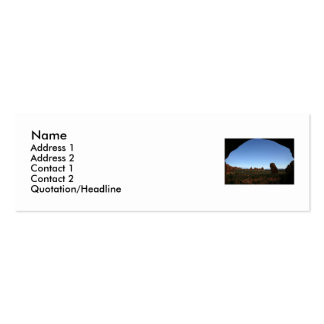 Outdoor Profile Card Template Mini Business Card