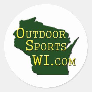 Outdoor Sports WI - Logo Classic Round Sticker