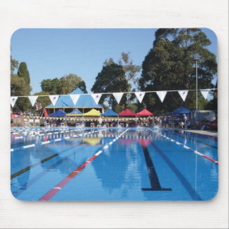 Outdoor Swimming Pool Mouse Pad