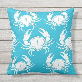 Outdoor Throw Pillow-Crabs Throw Pillow