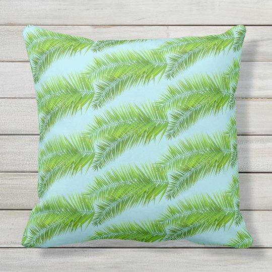 Outdoor Throw Pillow-Palms Throw Pillow