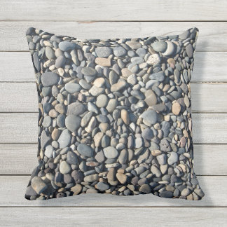 Outdoor Throw Pillow-pebbles Throw Pillow
