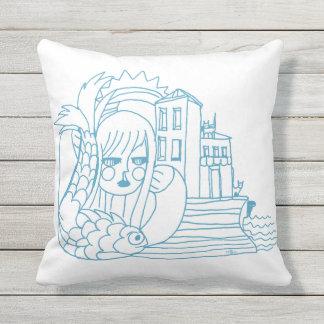 Outdoor Throw Pillow - Portofino Blue