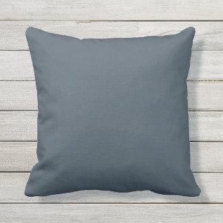 Outdoor Throw Pillow Solid Blue OP1009