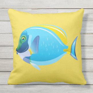 Outdoor Throw Pillow-Tropical Fish Outdoor Pillow