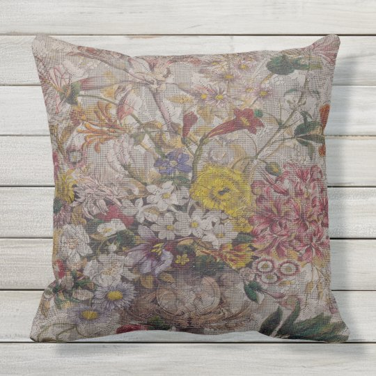 "Outdoor Vintage Textiles Pillow 20"" x 20"""