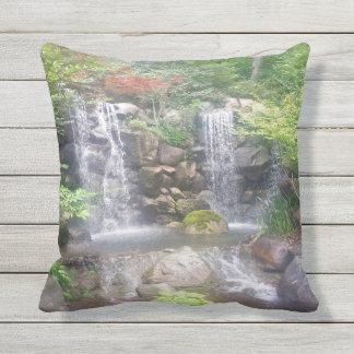 Outdoor Waterfall Pillow Japanese Gardens