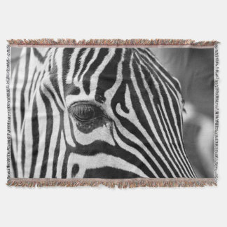Outdoor Zebra Striped Throw Blanket