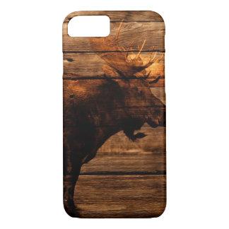 outdoorsman distressed wood wildlife bull moose Case-Mate iPhone case