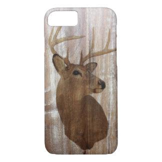 Outdoorsman Western Primitive barn wood deer Case-Mate iPhone Case